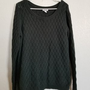 Woman large old navy sweater olive green
